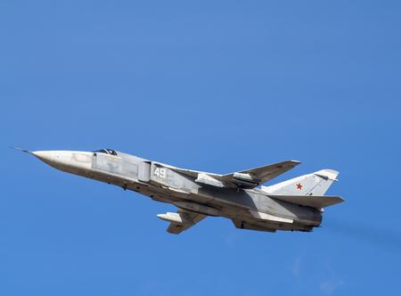 russian fighter su-24 in flight