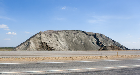 pile of granite crushed stone Stock Photo