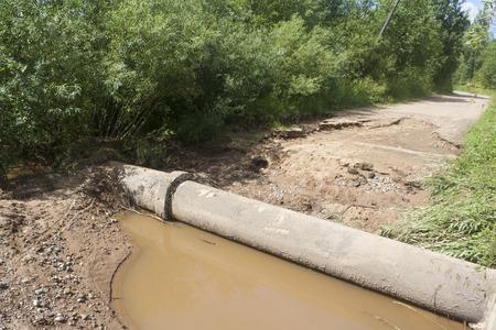 Washed rural dirt road Stock fotó