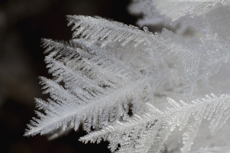 crystals of hoarfrost extreme closeup Stok Fotoğraf