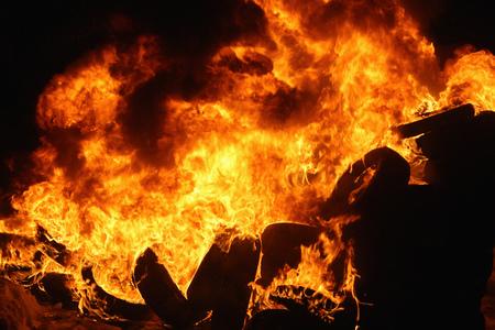 a huge bonfire flame texture background