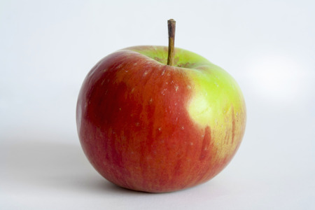 red apple on white background 写真素材