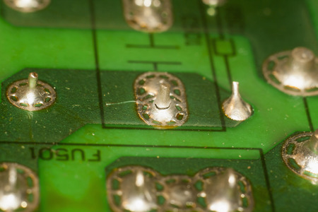 Solder defect on the circuit board 写真素材