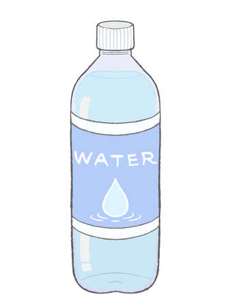 Water in the plastic bottle for water supplement.