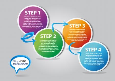 Business marketing proposals bubble icons vector  Ilustração