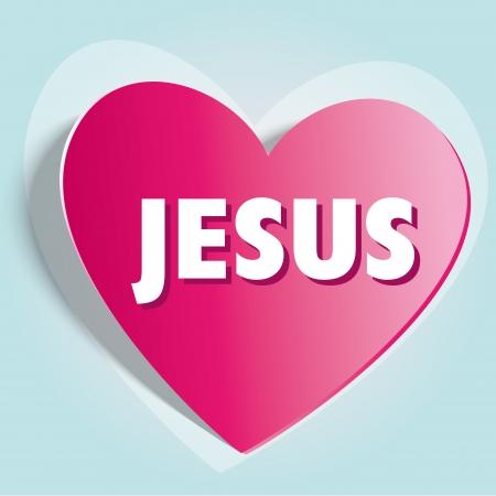 Love Jesus heart background Vector