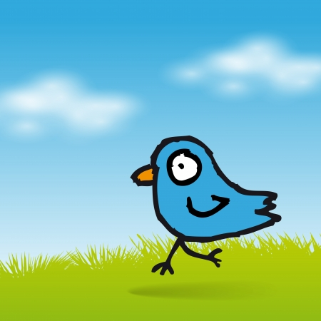 tweet: Tweet blue bird background
