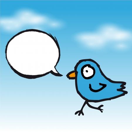 tweet: Tweet blue bird