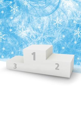 Winter games podium Stock Photo - 24920967