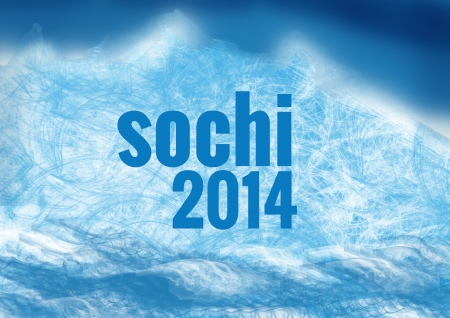olympic games: Sochi olympic games winter background Editorial