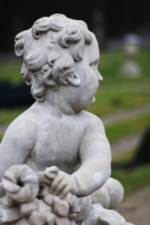 Little angel boy statue  photo