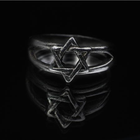 yiddish: Giudaismo Magen David stella anello simbolo ebraico Archivio Fotografico