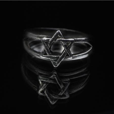 Judentum magen david Sterne jüdische Symbol Ring Standard-Bild