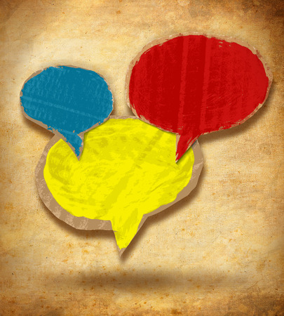 Common chat speech bubbles retro background photo