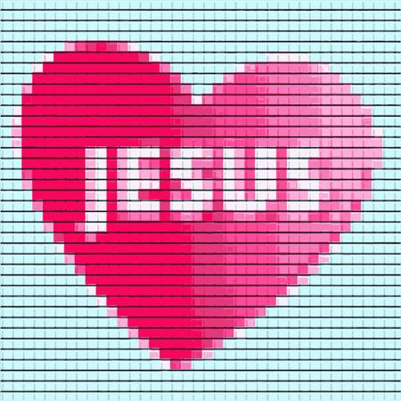 Jesus loves you background Illustration