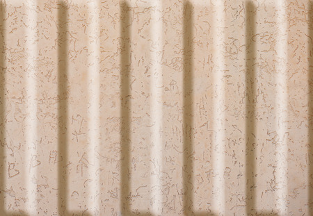 formalization: Texture concrete wall with relief inserts. Preparation for graphs, tables or stand decoration. Plain beige smooth surface texture with volumetric grooves with copy space