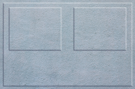 grooves: Texture concrete wall with relief inserts. Preparation for graphs, tables or stand decoration. Plain blue smooth surface texture with volumetric grooves with copy space