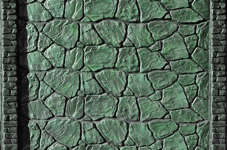 smeary: Stone fence texture - building feature. Texture of concrete fence with relief and texture like a stone wall