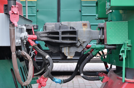 Wagon coupling. The coupler of two railway trains or freight wagons with railway sleeves