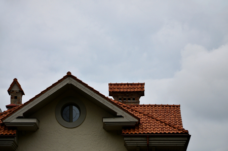 The house is equipped with high-quality roofing of ceramic tiles. A good example of perfect roofing. The building is reliably protected from adverse weather conditions