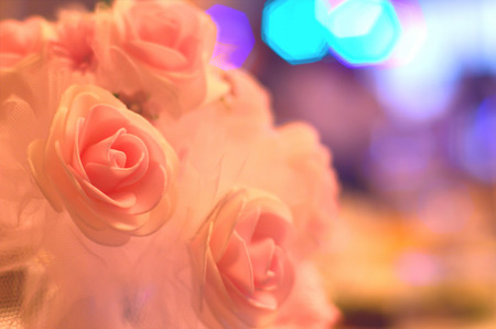 Detailed photo of a beautiful wedding bouquet of flowers. Traditional and obligatory gift of the groom on the wedding day