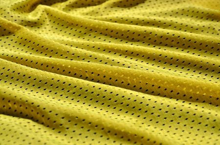 Texture of sportswear made of polyester fiber. Outerwear for sports training has a mesh texture of stretchable nylon fabric Stock Photo
