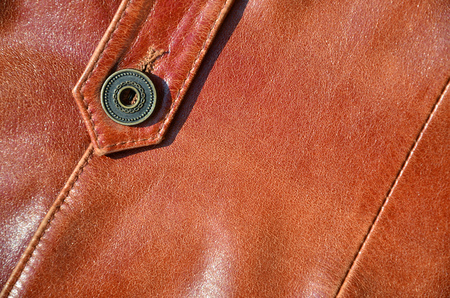 Brown leather texture. Useful as background for any design work. Standard-Bild