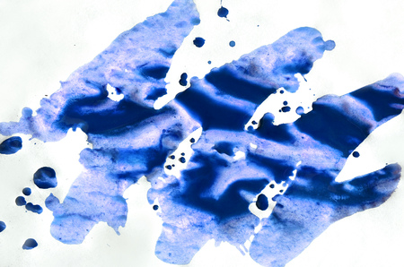 Watercolor wet background. blue and violet colors. Watercolor abstract background. Hand painted aquarelle background. Watercolor wash. Abstract painting