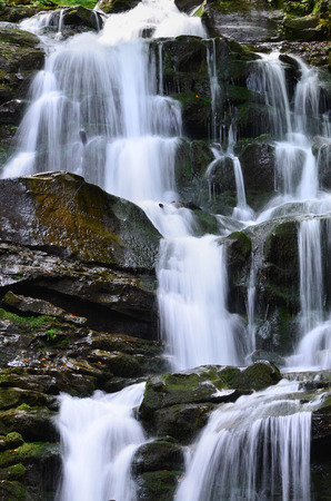 Waterfall Shipot (Shipit) - one of the most beautiful and the most full-flowing waterfalls of Transcarpathia