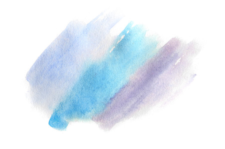 Abstract background illustration in the form of three watercolor strokes performed in cold blue and violet tones Reklamní fotografie