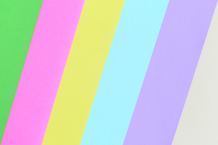 Texture background of fashion pastel colors. Pink, violet, yellow, green, beige and blue geometric pattern papers. minimal abstract.