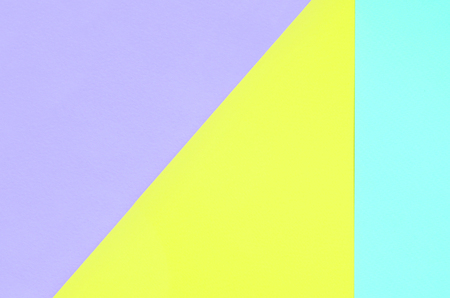 Texture background of fashion pastel colors. Violet, yellow, and blue geometric pattern papers. minimal abstract.