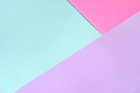 Texture background of fashion pastel colors. Pink, violet and blue geometric pattern papers. minimal abstract.
