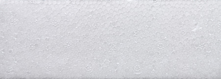 White polystyrene foam board, High quality styrofoam texture background, Close up of a porous white surface Stock Photo