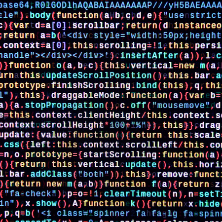 Javascript functions, variables, objects. Monitor closeup of function source code. IT specialist workplace. Big data and Internet of things trend. HTML website structure. Website programming code Stock Photo