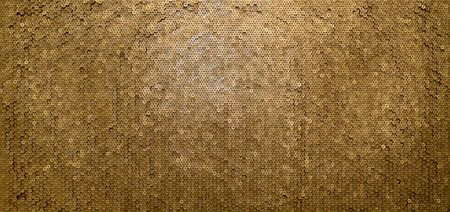 Pattern of 12 gauge cartridges for shotgun bullets. Shells for hunting rifle close up. Backdrop for shooting range or ammunition trade concepts. Used 12 caliber cylinder cooper caps in stack Imagens