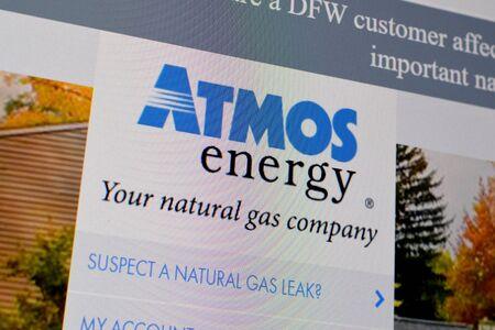 NY, USA - DECEMBER 16, 2019: Homepage of atmosenergy website on the display of PC, url - atmosenergy.com.