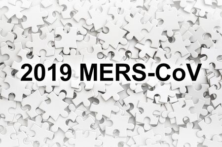MERS-CoV Novel Corona virus concept with puzzle parts. Middle East Respiratory Syndrome abstract.