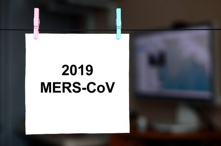 MERS-CoV Novel Corona virus concept. Middle East Respiratory Syndrome abstract collage.