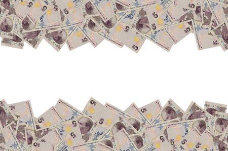President Mustafa Kemal Ataturk Portrait from Turkey 5 Lira 2009 Banknotes close up pattern