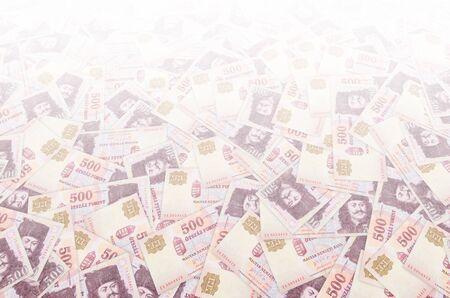 Francis II Rakoczi Portrait on Hungary 500 Forint 1993 Banknotes pattern close up 写真素材