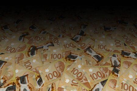 Robert Borden Portrait aus Kanada 100 Dollar 2011 Polymer Banknote Muster Nahaufnahme Standard-Bild