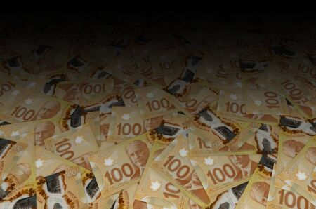 Robert Borden Portrait from Canada 100 Dollars 2011 Polymer Banknote pattern close up Banco de Imagens