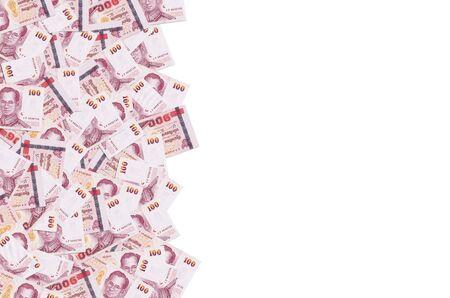 King Bhumibol Adulyadej on 100 Baht Thailand money bill close up. Bill of national currency of Thailand