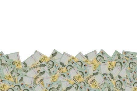 King Bhumibol Adulyadej on 20 Baht Thailand money bill close up. Bill of national currency of Thailand