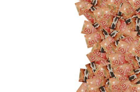 William Lyon Mackenzie King Porträt auf Kanada 50 Dollar 2012 Polymer Banknote Muster Nahaufnahme