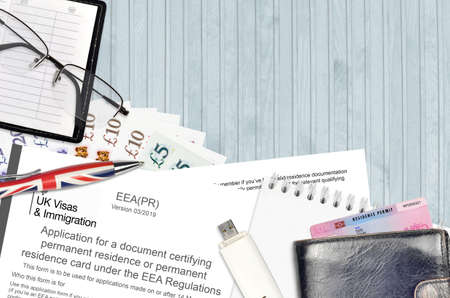 English form EEA PR application for a document certifying permanent residence or permanent residence card under the EEA regulations from UK visas and immigration services