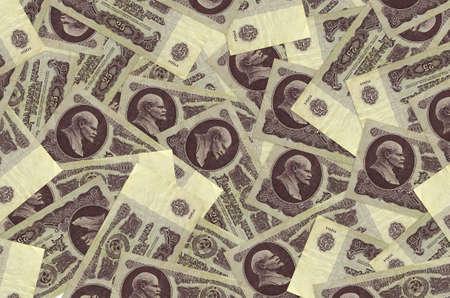 25 russian rubles bills lies in big pile. Rich life conceptual background. Big amount of money Zdjęcie Seryjne