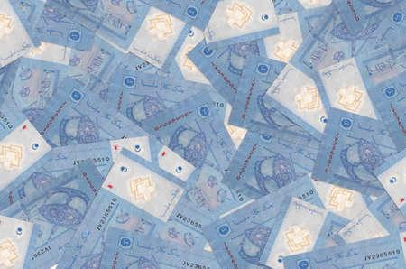 1 Malaysian ringgit bills lies in big pile. Rich life conceptual background. Big amount of money Zdjęcie Seryjne