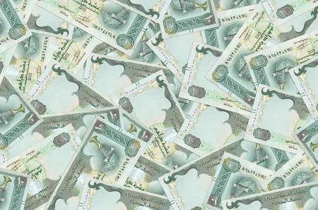 10 UAE dirhams bills lies in big pile. Rich life conceptual background. Big amount of money Stock fotó
